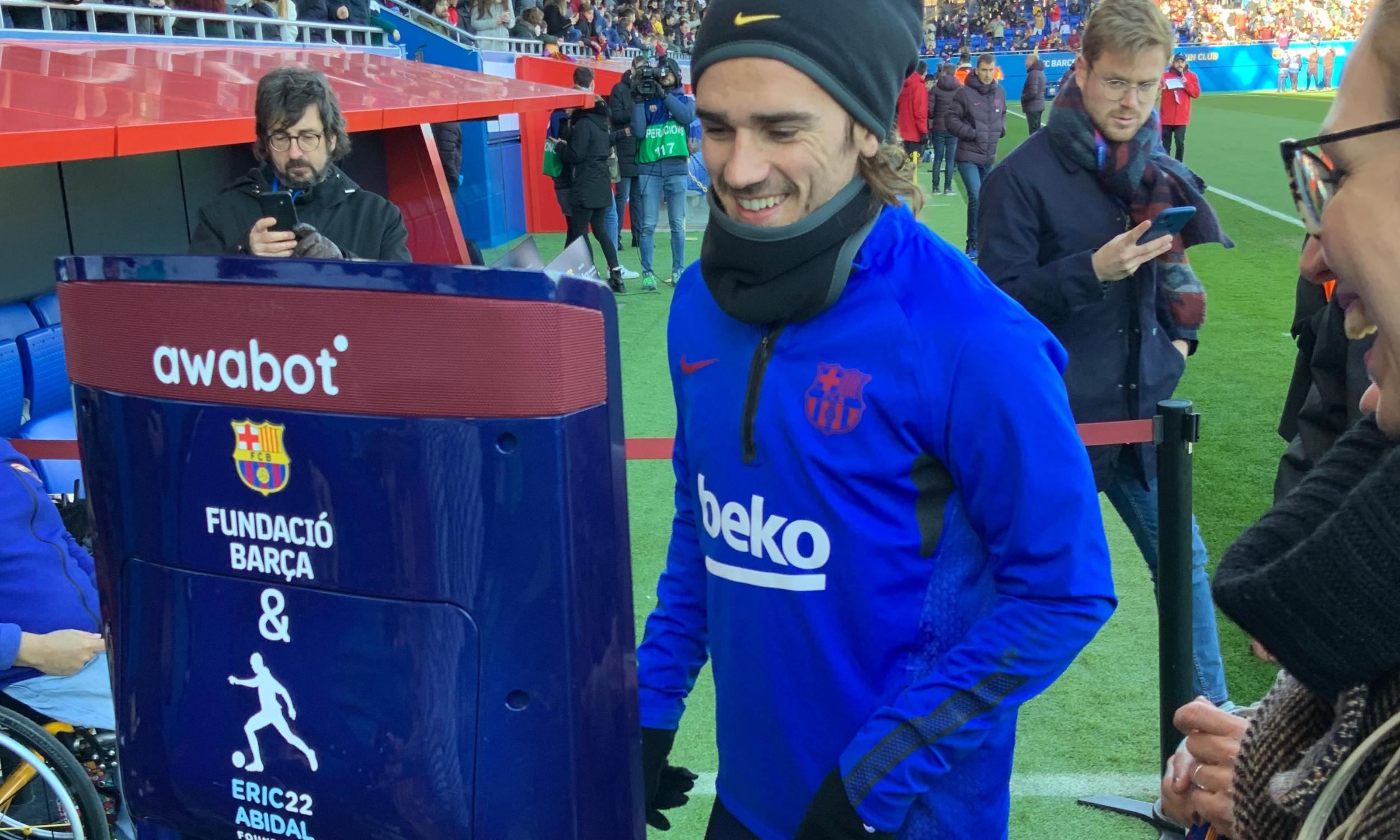 Rencontre avec Antoine Griezmann au Camp Nou.